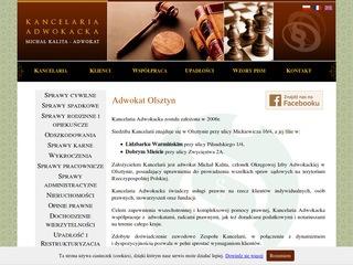 Kancelaria adwokacka Michał Kalita adwokat Olsztyn